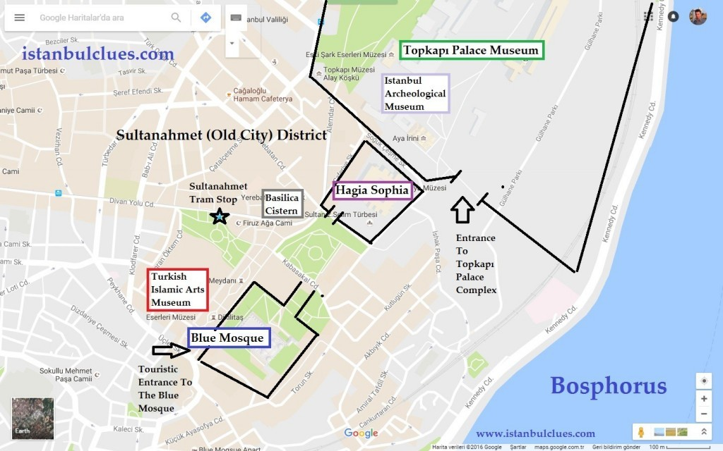 map-of-museums-in-istanbul-old-city-sultanahmet
