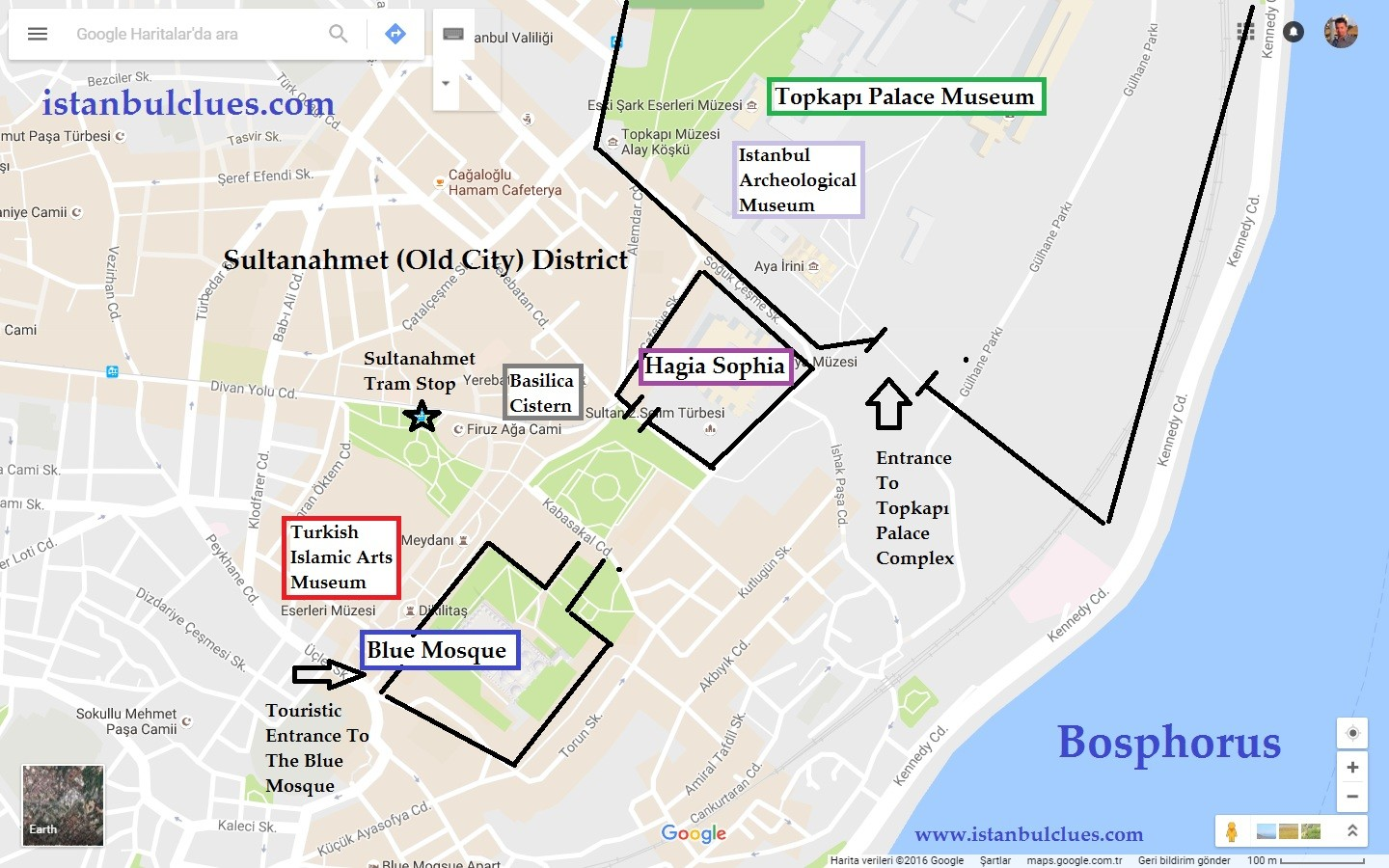 Maps Of Istanbul Turkey 2017 – Istanbul Tourist Attractions Map