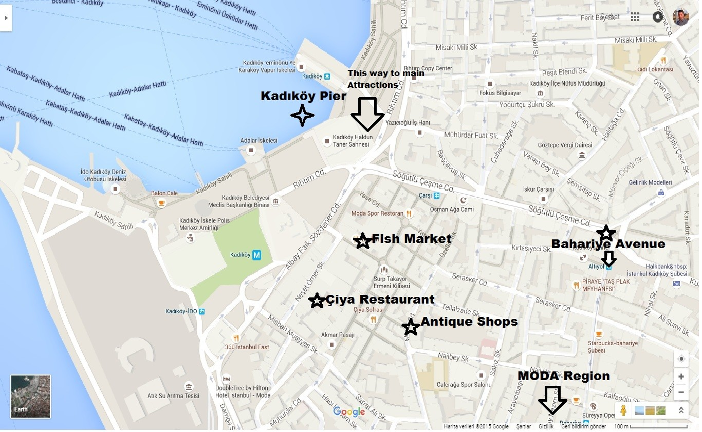 Kadikoy Street Map For Attractions Istanbul Tour Guide