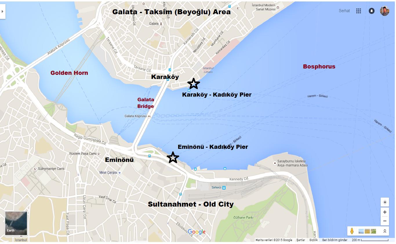 Ferry from Karaköy or Eminönü to Kadıköy