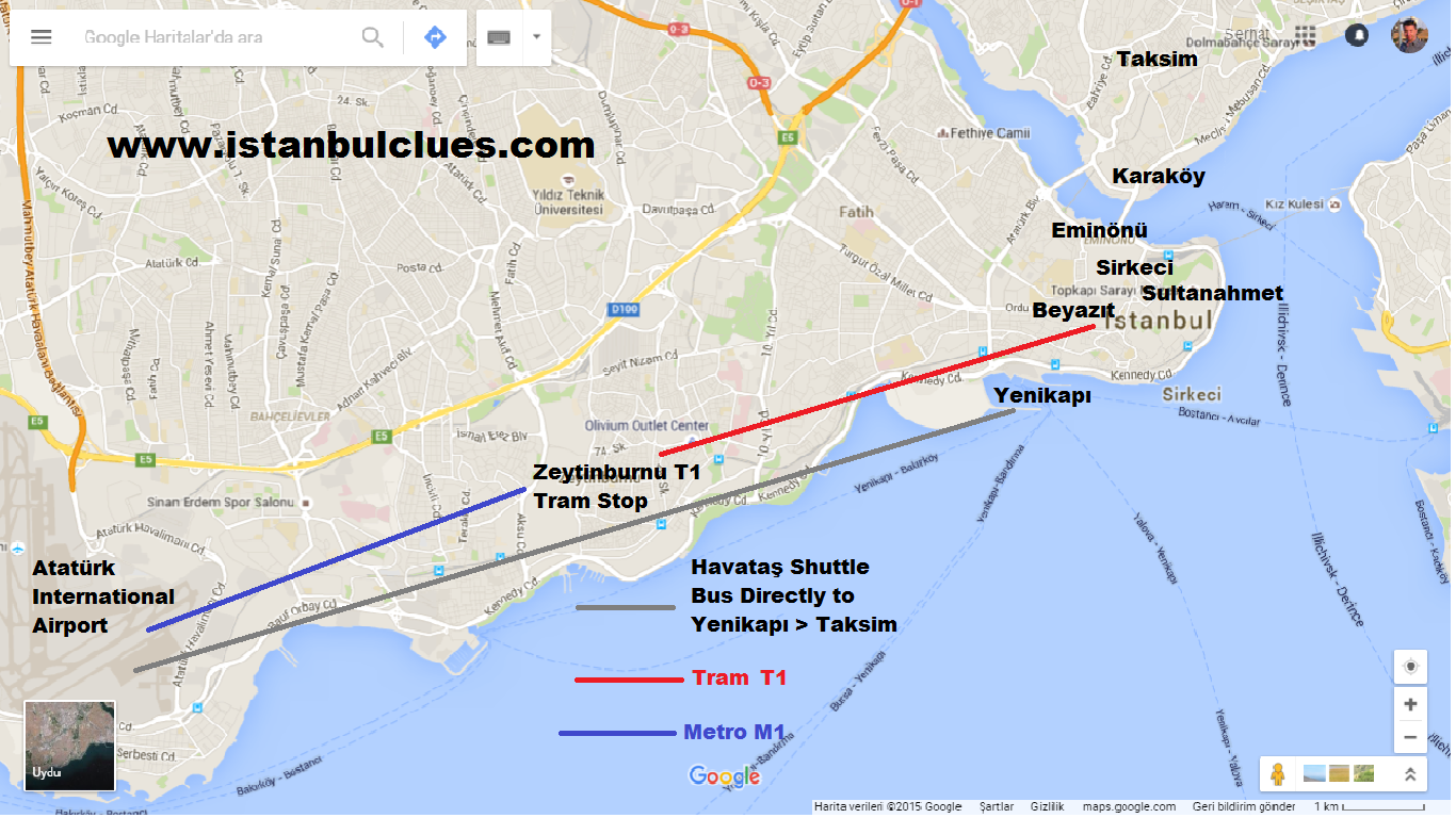 To Get From Istanbul Ataturk Airport to Sultanahmet