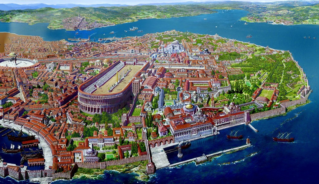 Incredible illustration of Constantinople