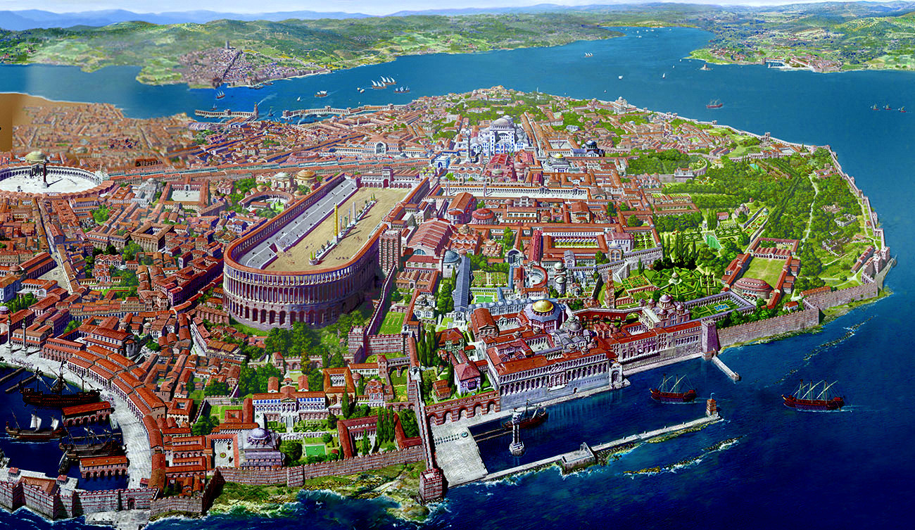 a history of constantinople in the roman empire Tale of three cities: history of istanbul, byzantium, constantinople facts foundation by greek byzas capital of romans by the time of constantine byzantine period of justinian.