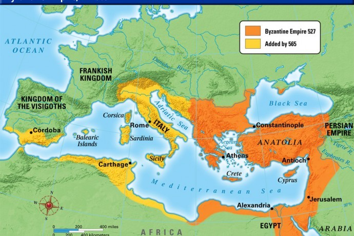 Map Of Byzantine Empire With Facts Istanbul Tour Guide