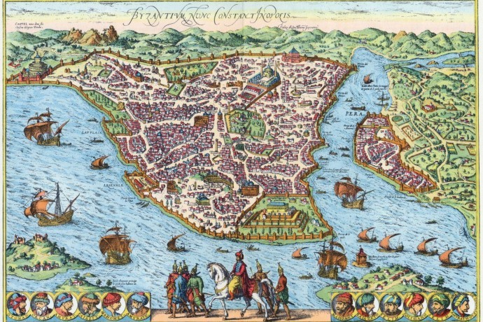 Map Of Constantinople In The Ottoman Period
