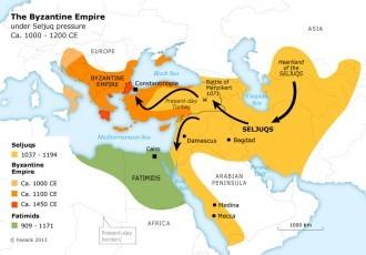Map Of Great Seljuk Turks