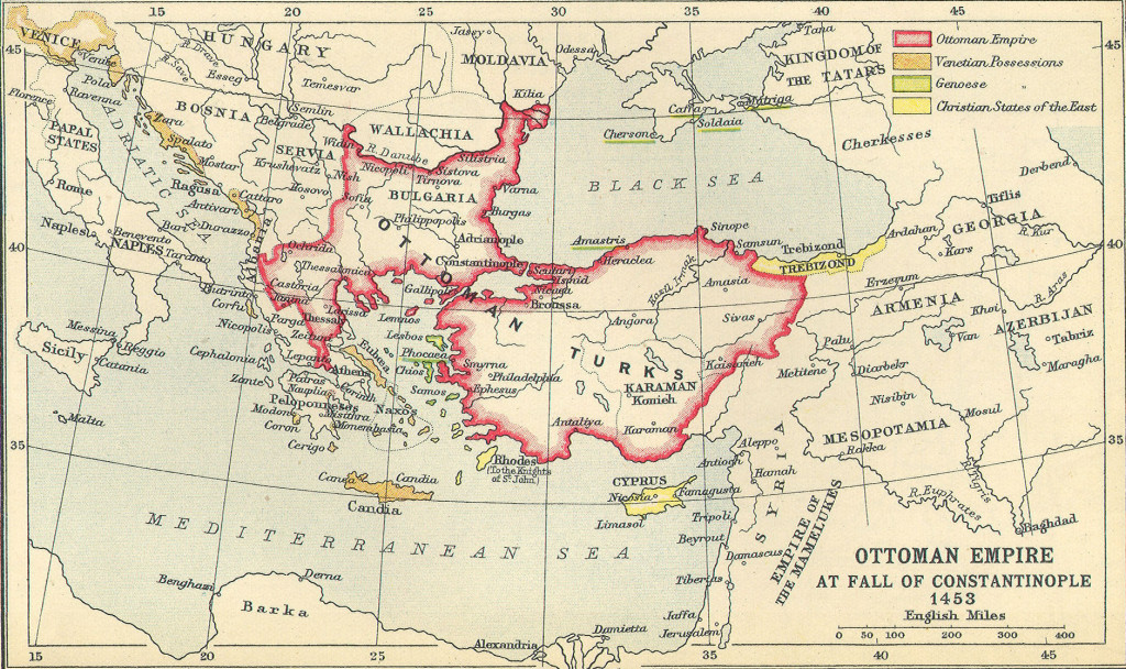 Ottoman Empire before the conquest of Constantinople
