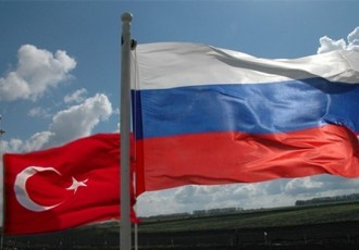 Russian Turkish Flags