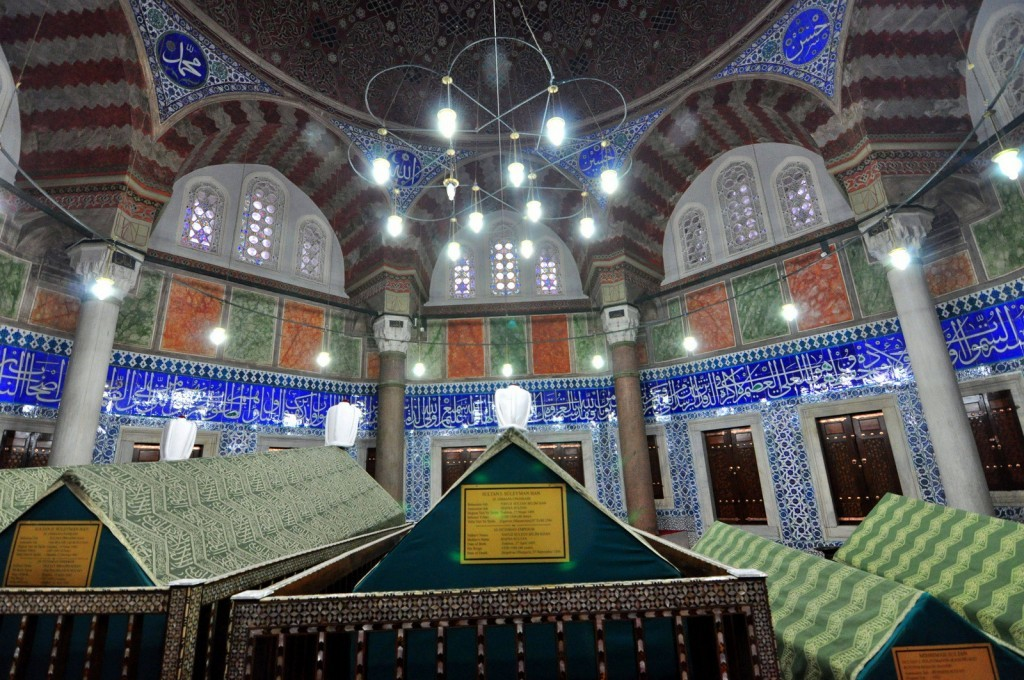 Tomb of Sultan Suleiman the Magnificent. His wife Hurrem's Tomb next to this one in the courtyard.