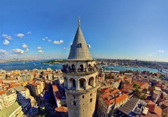 Galata Kulesi (Tower) Of Istanbul City