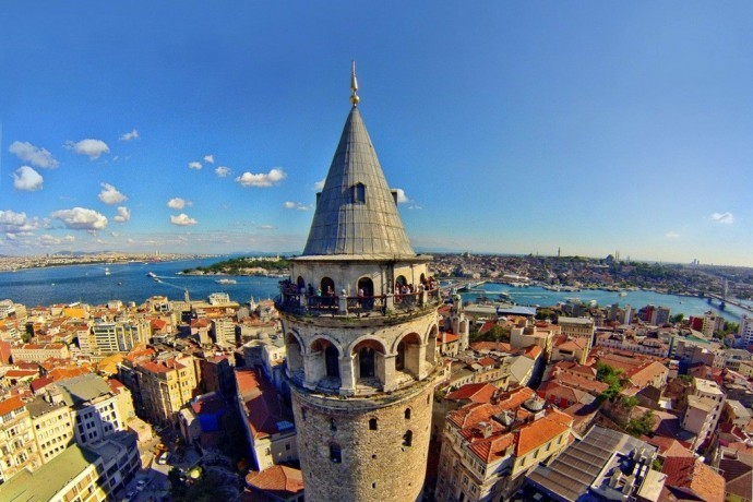 Galata Kulesi (Tower) Of Istanbul City