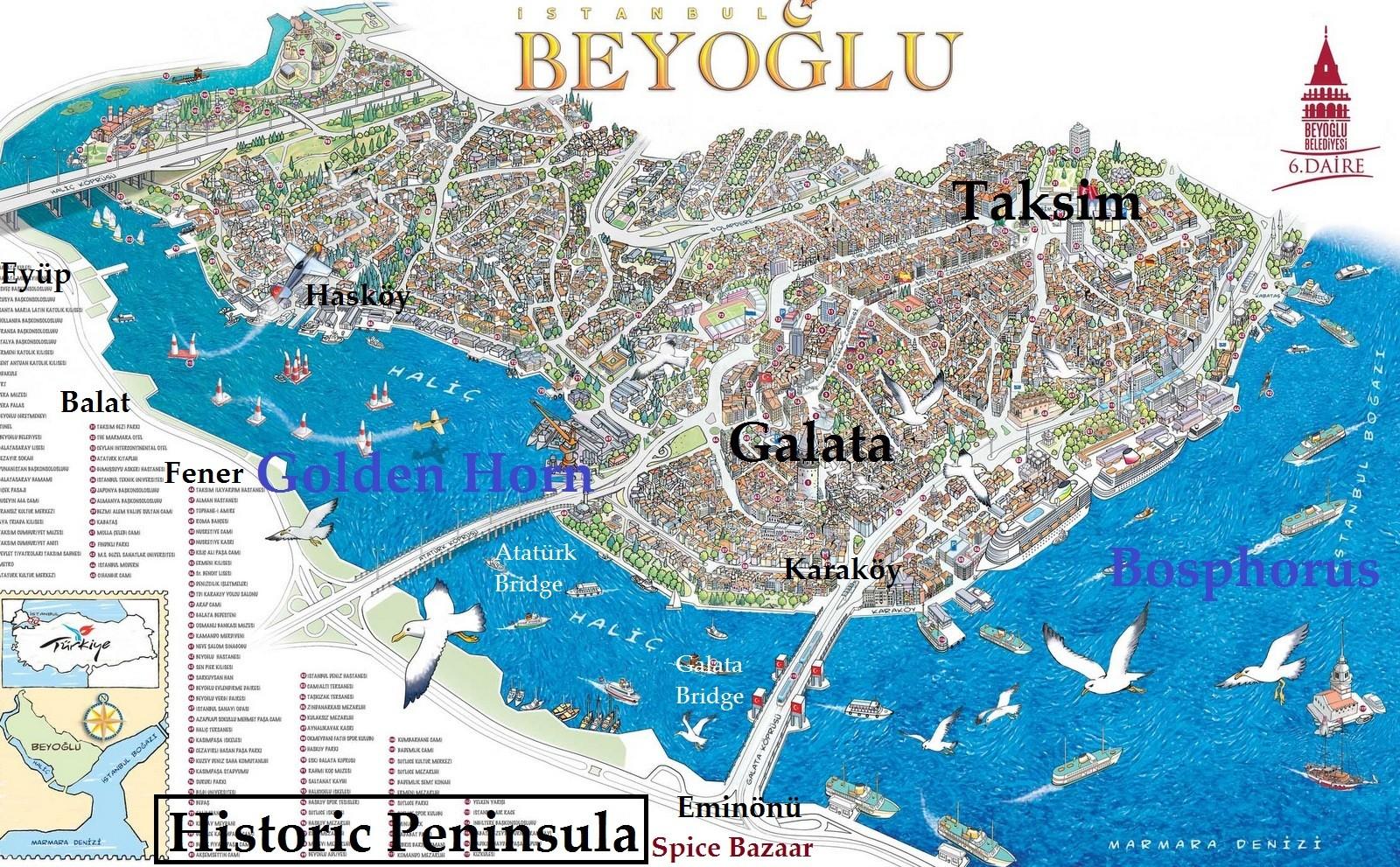 Golden Horn Map