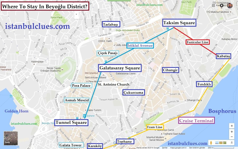 Areas To Stay In Istanbul Beyoğlu
