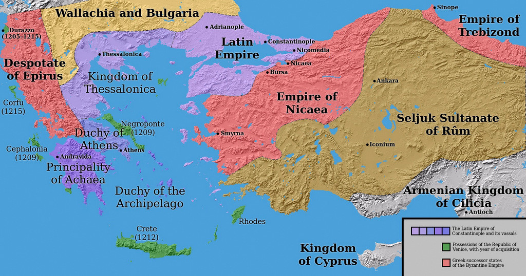 Map Of Byzantine Empire With Facts | Istanbul Tour Guide