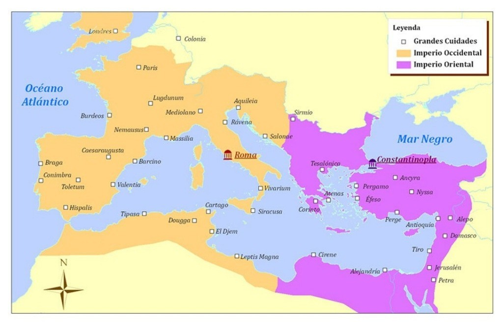map-of-roman-empire-constantinople-and-rome