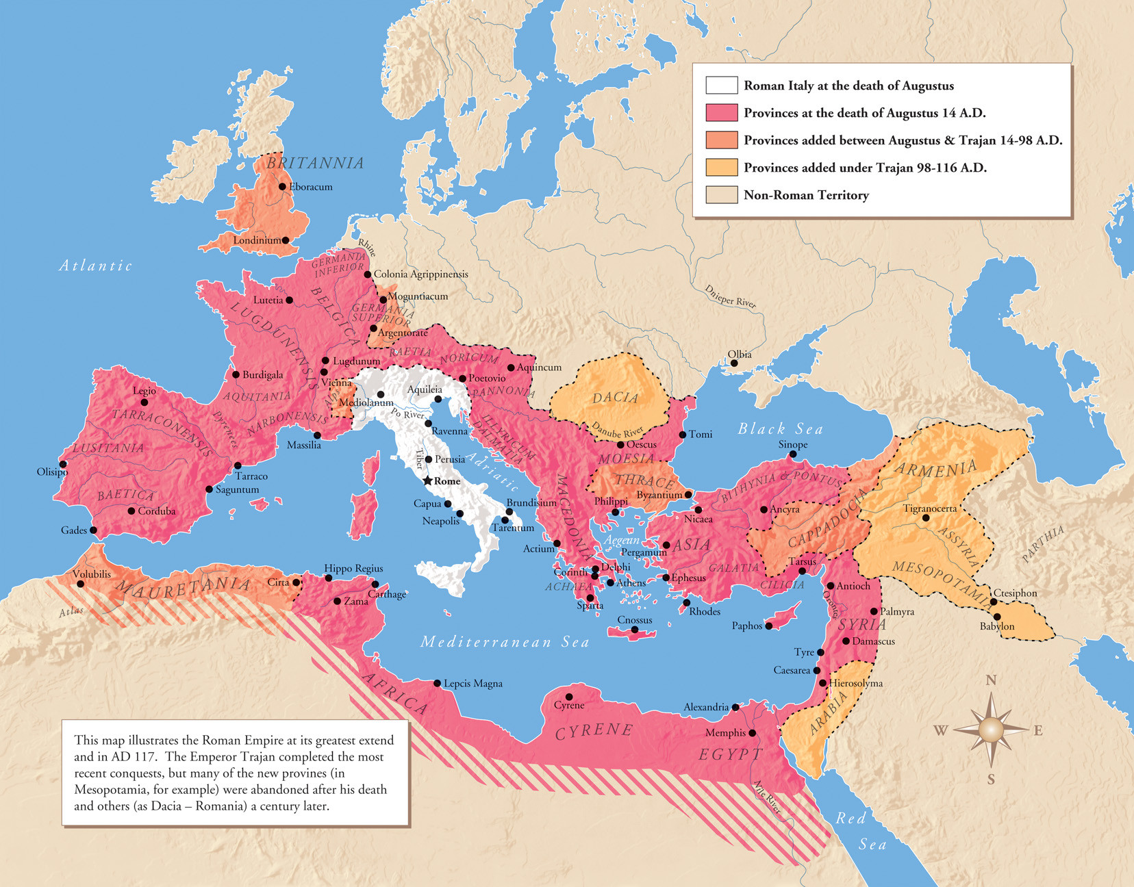 roman empire to 117 ad map Roman Empire Map At Its Height Over Time Istanbul Clues roman empire to 117 ad map