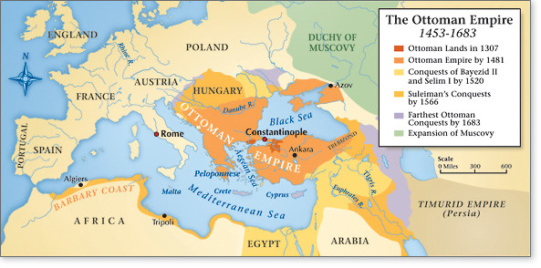 The history and success of the ottoman empire in the middle east