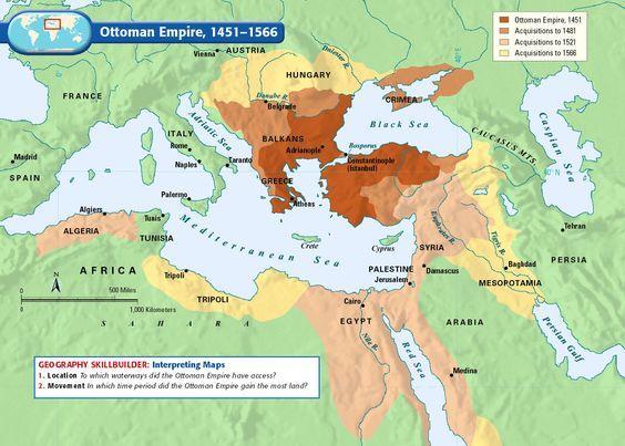 Map Of Ottoman Empire 1500 Spread In Europe