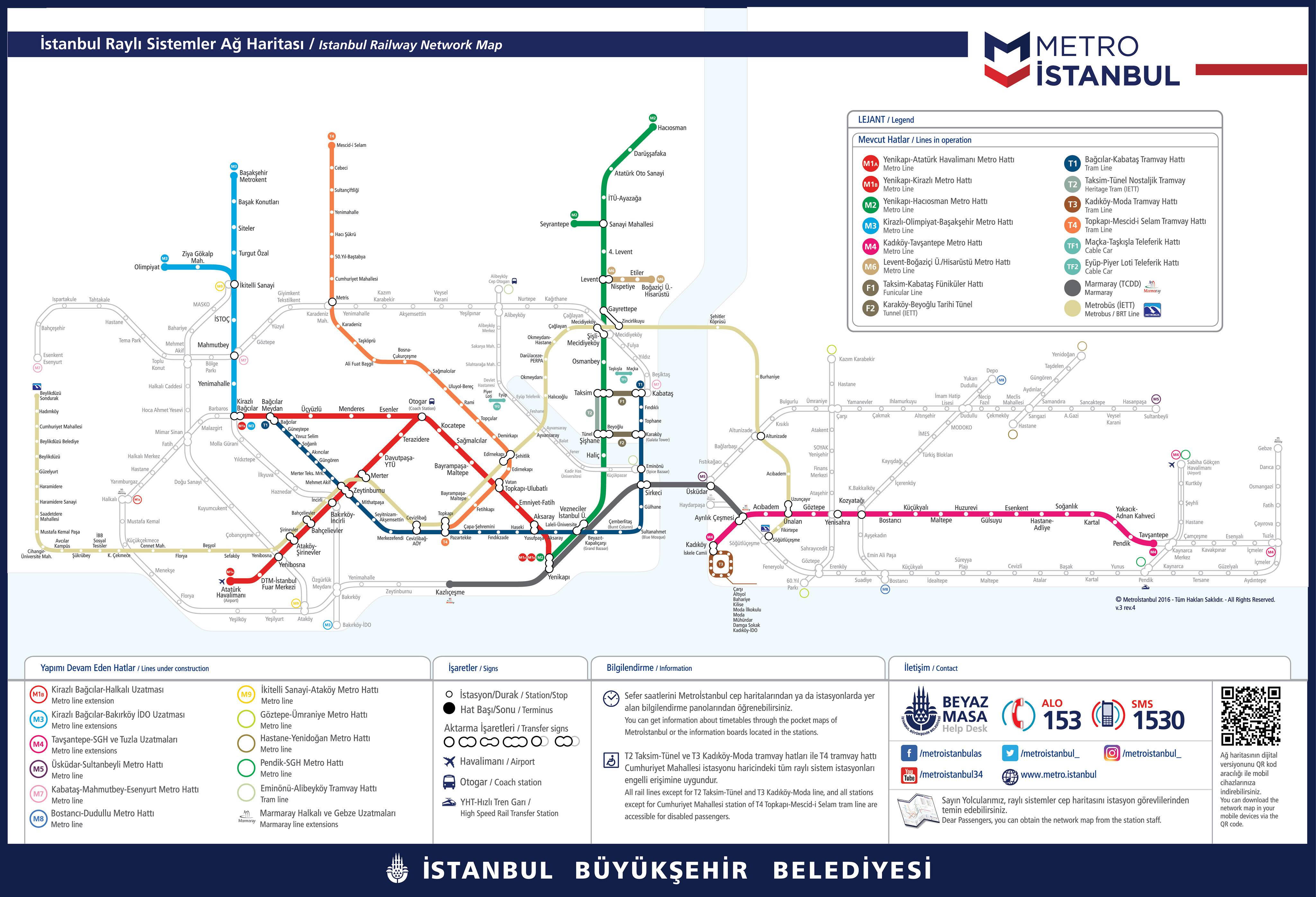 Istanbul Metro Map and Tram Map PDF Files 2019 - Istanbul Clues
