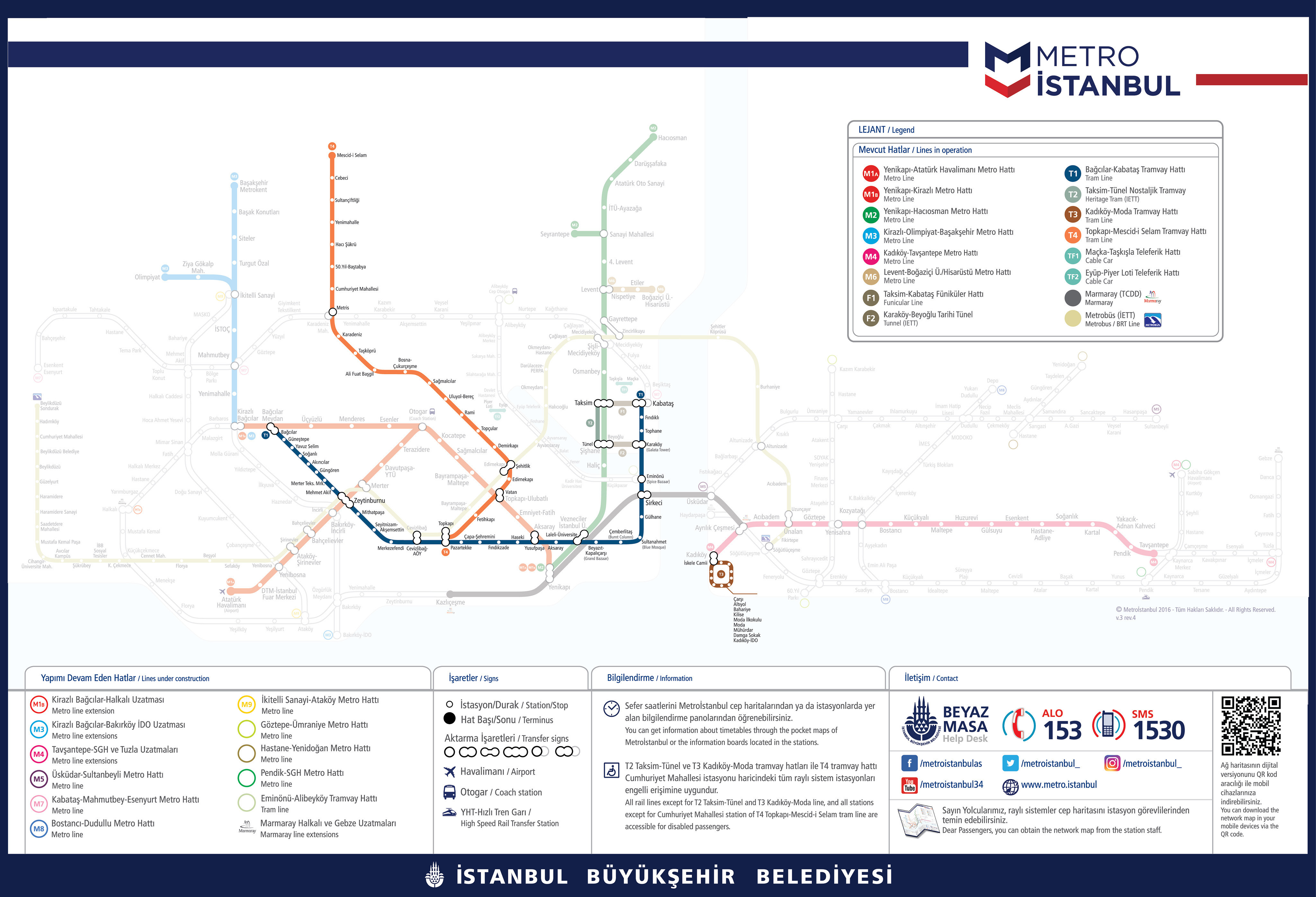 Istanbul Subway Map 2015.Istanbul Metro Map And Tram Map Pdf Files 2019 Istanbul Clues